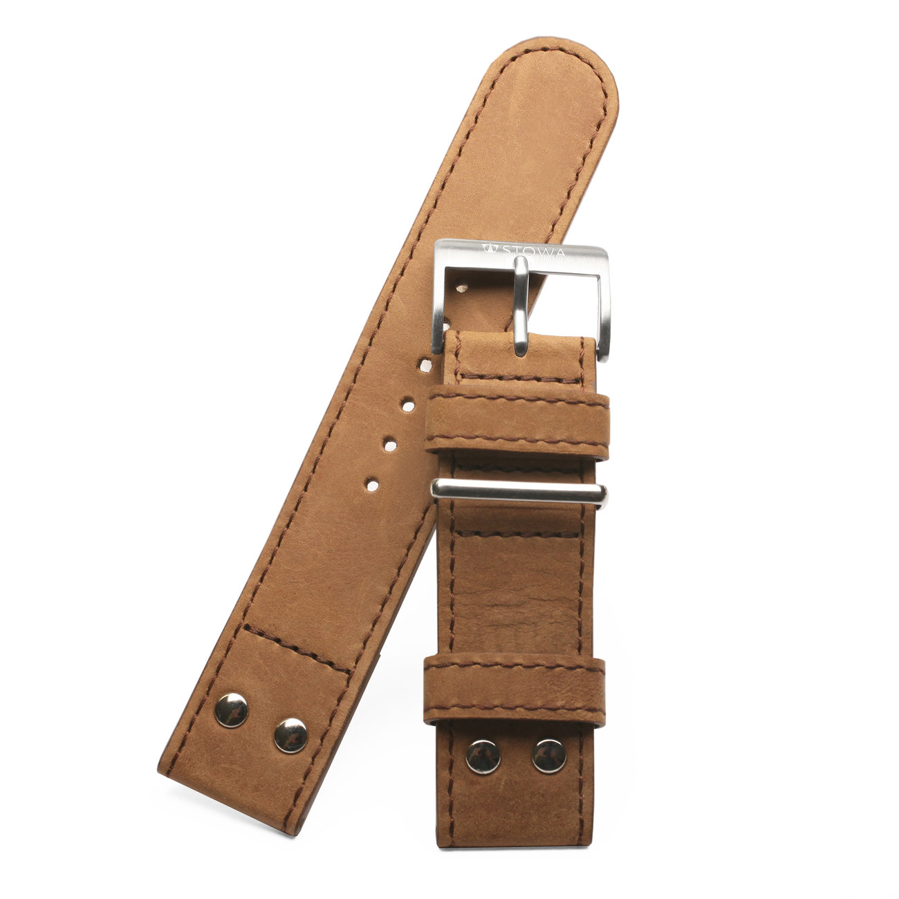 Pilot strap Old Style brown