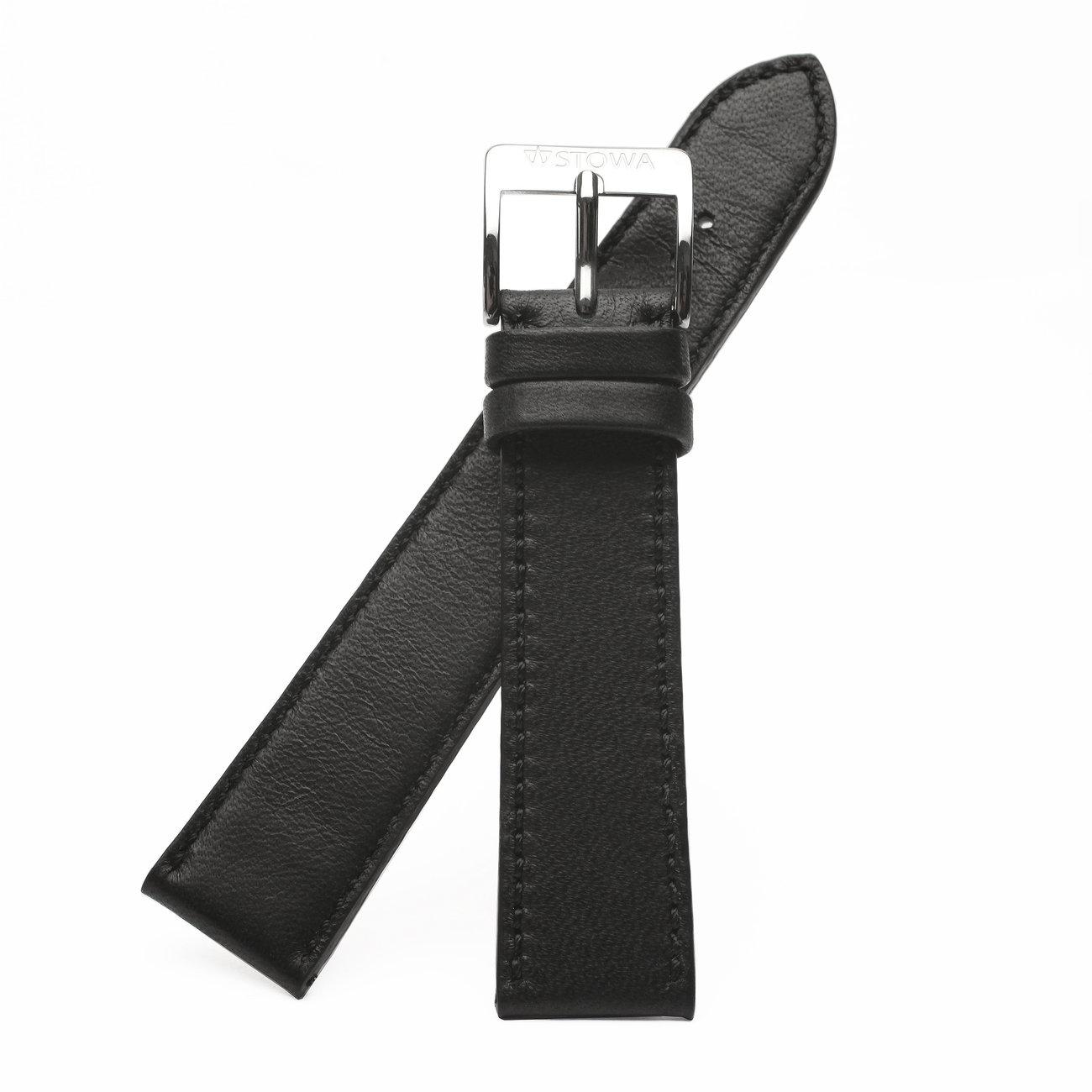 Lederband schwarz handgenäht