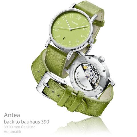 Antea back to bauhaus grün 390 Datum Aktionsuhr