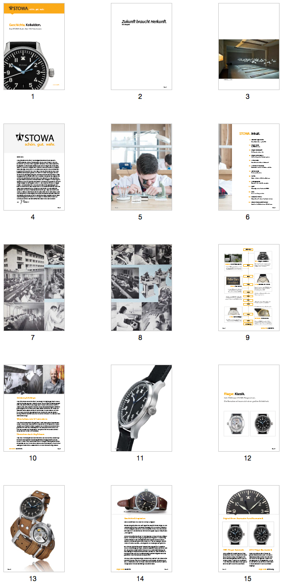 Story. Collection. — The STOWA Book. From 1927 till today. Buch_Ausschnitte_shop